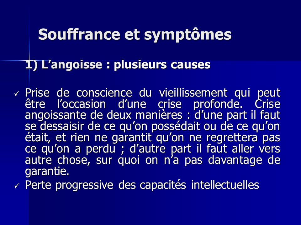 Souffrance et symptômes