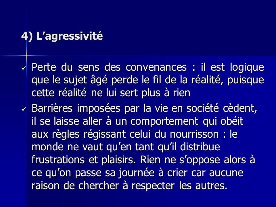 4) L'agressivité