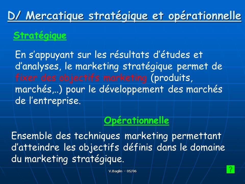D/ Mercatique stratégique et opérationnelle