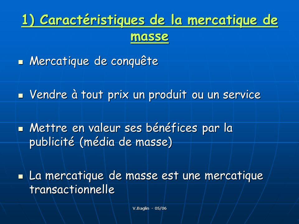 1) Caractéristiques de la mercatique de masse