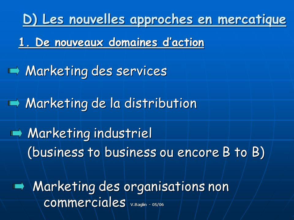 D) Les nouvelles approches en mercatique
