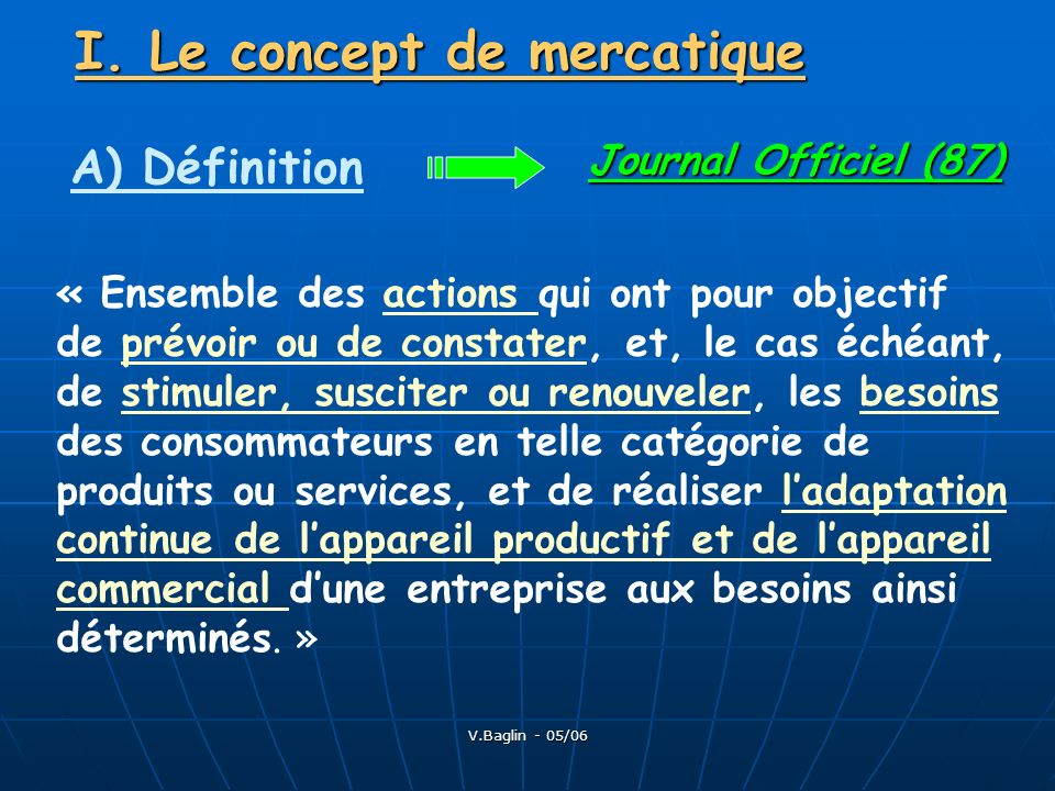 I. Le concept de mercatique