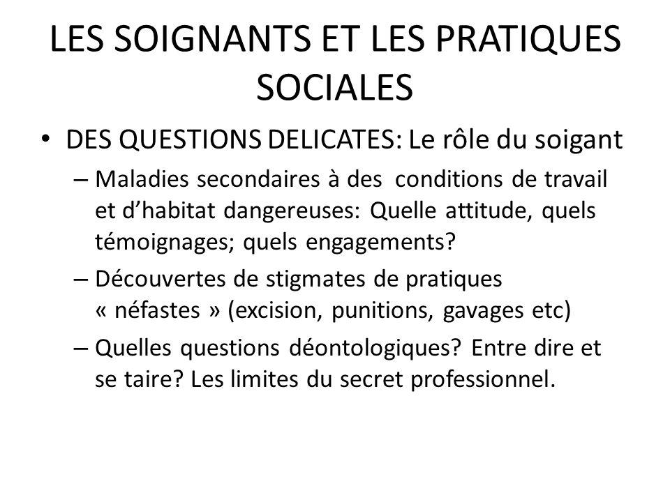 LES SOIGNANTS ET LES PRATIQUES SOCIALES