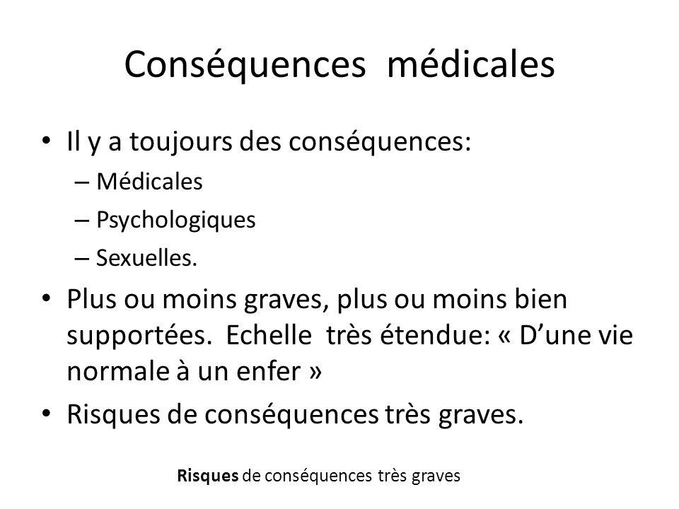Conséquences médicales