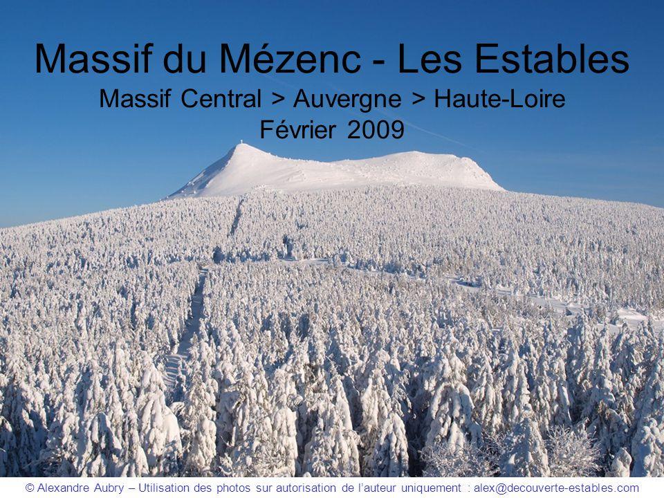 Massif du Mézenc - Les Estables Massif Central > Auvergne > Haute-Loire Février 2009