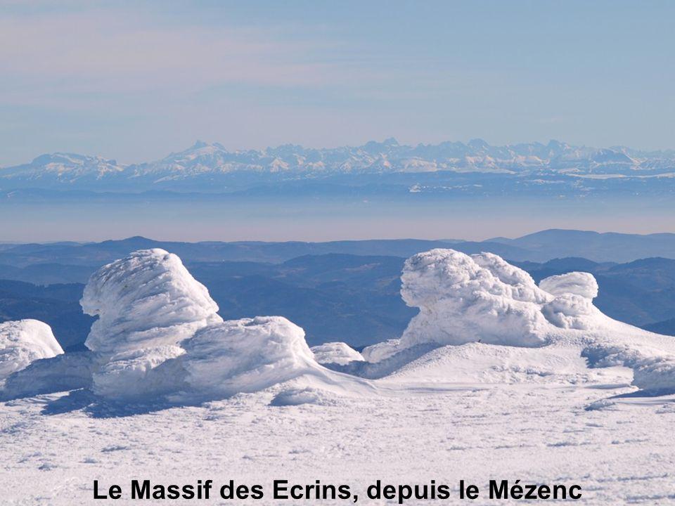 Le Massif des Ecrins, depuis le Mézenc