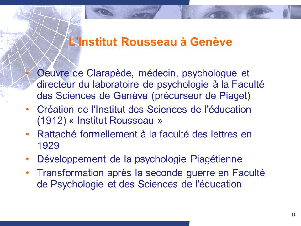 L Institut Rousseau à Genève