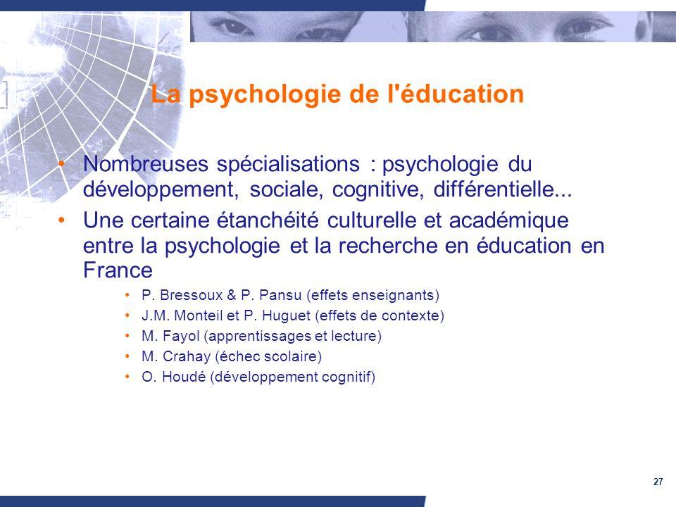 La psychologie de l éducation