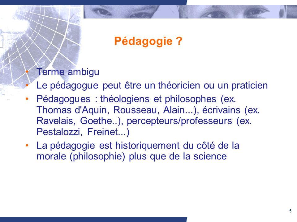 Pédagogie Terme ambigu
