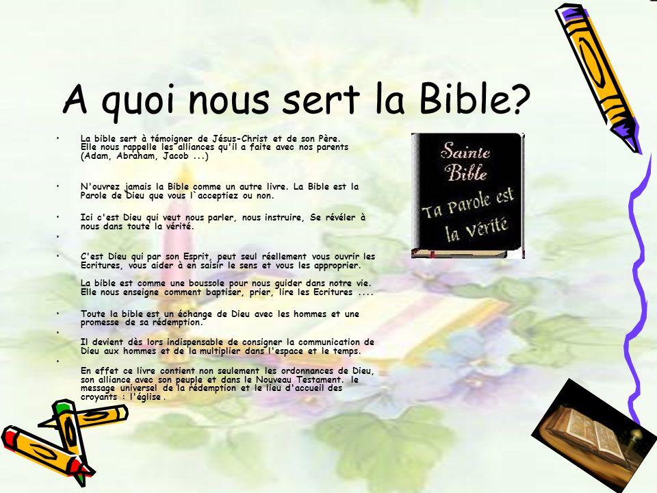 A quoi nous sert la Bible