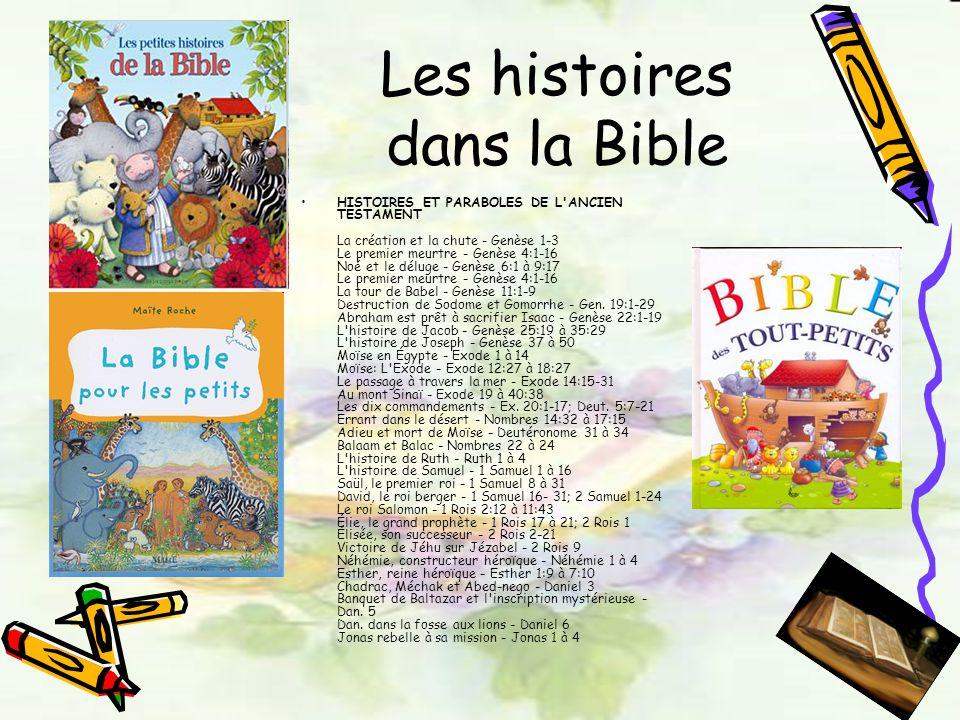 Les histoires dans la Bible
