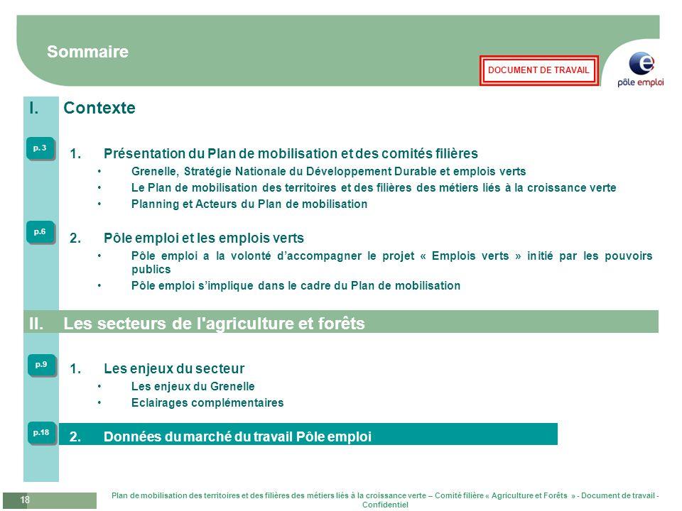 Les secteurs de l agriculture et forêts