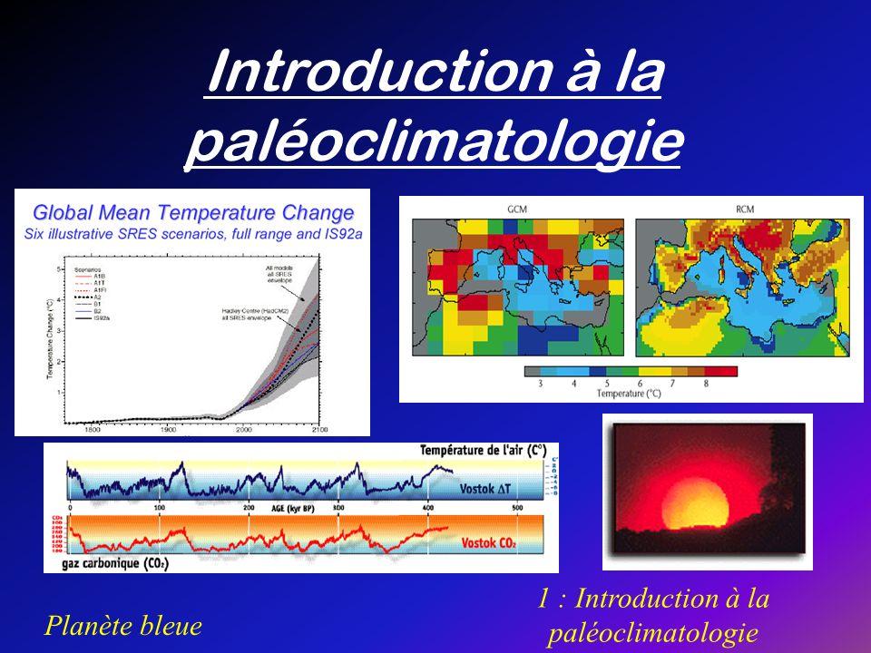 Introduction à la paléoclimatologie