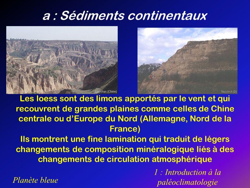 a : Sédiments continentaux