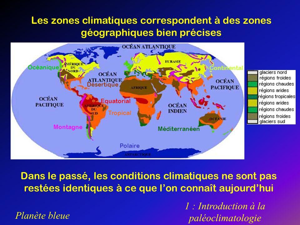 1 : Introduction à la paléoclimatologie