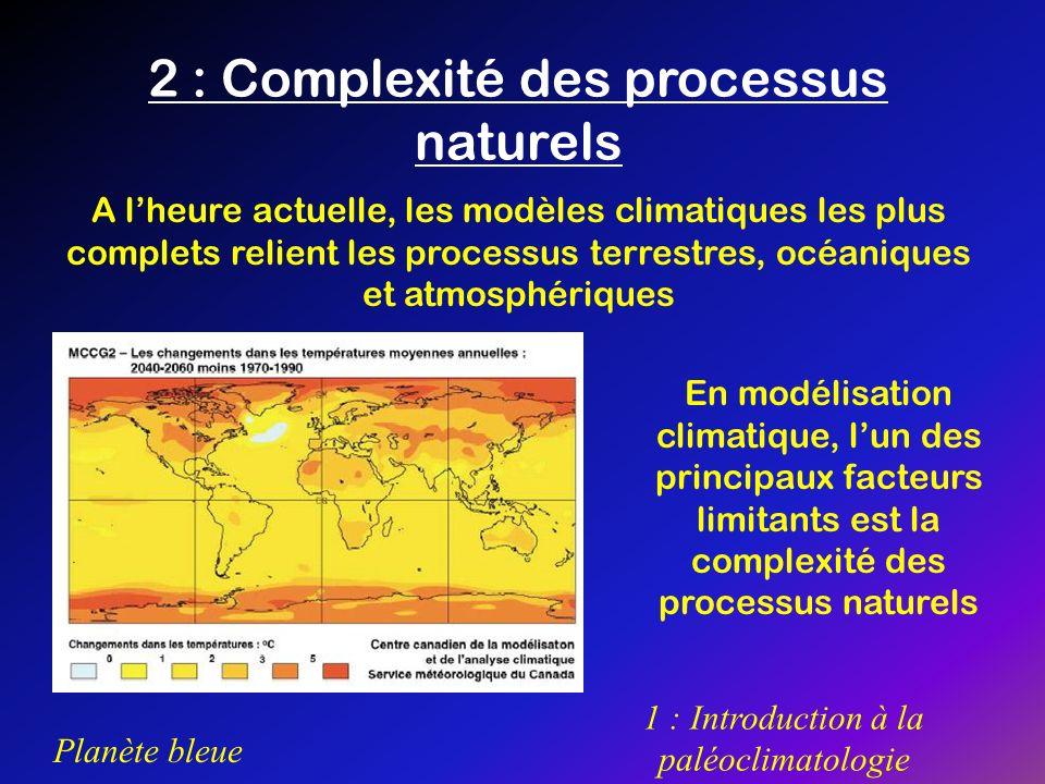 2 : Complexité des processus naturels