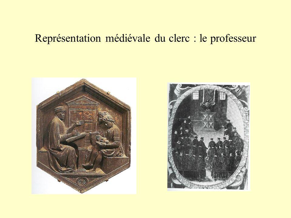 Représentation médiévale du clerc : le professeur
