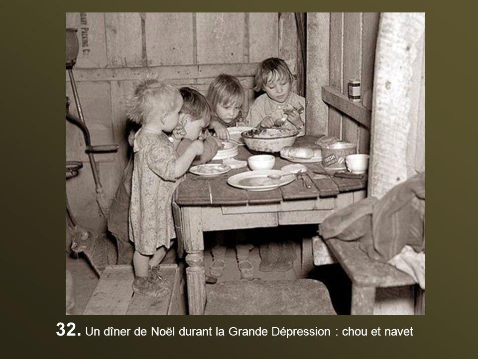 32. Un dîner de Noël durant la Grande Dépression : chou et navet