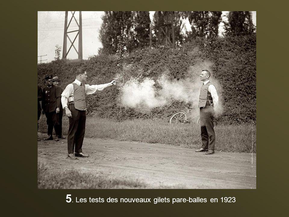 5. Les tests des nouveaux gilets pare-balles en 1923