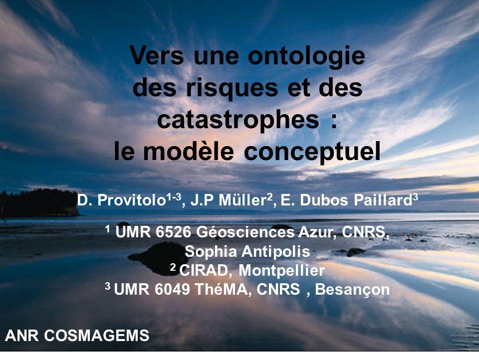 des risques et des catastrophes : le modèle conceptuel