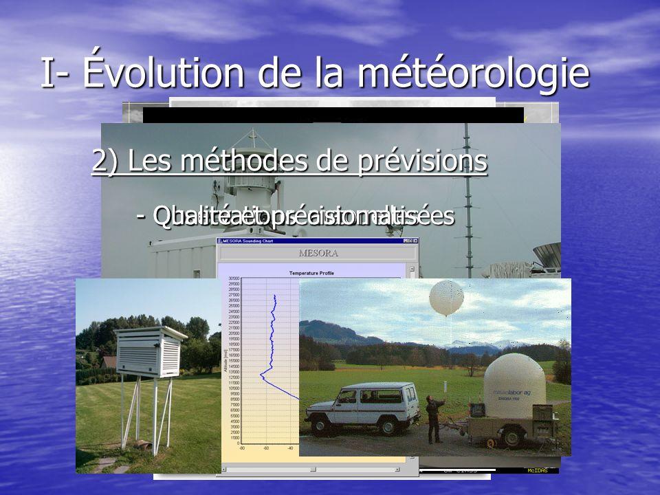 I- Évolution de la météorologie