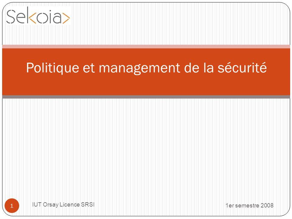 Politique et management de la sécurité