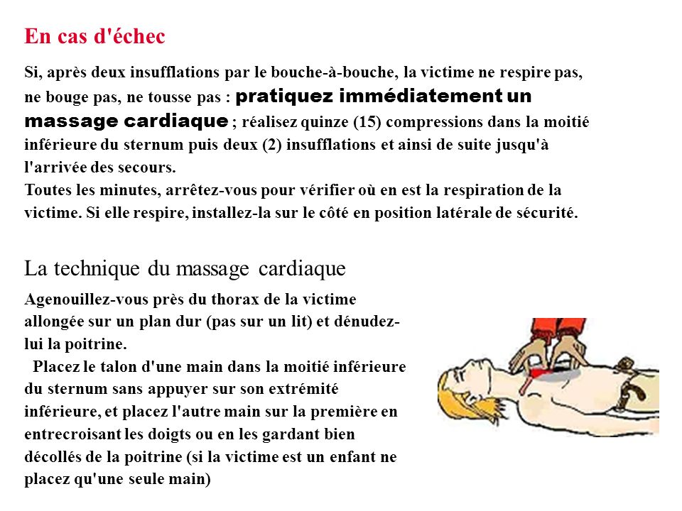 La technique du massage cardiaque