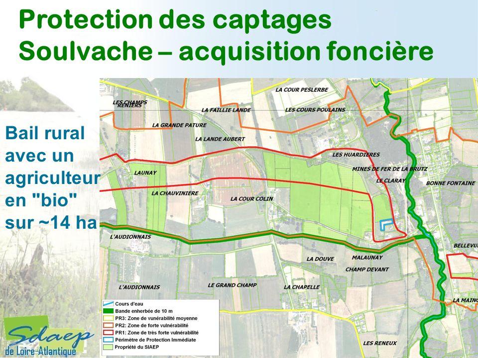 Protection des captages Soulvache – acquisition foncière