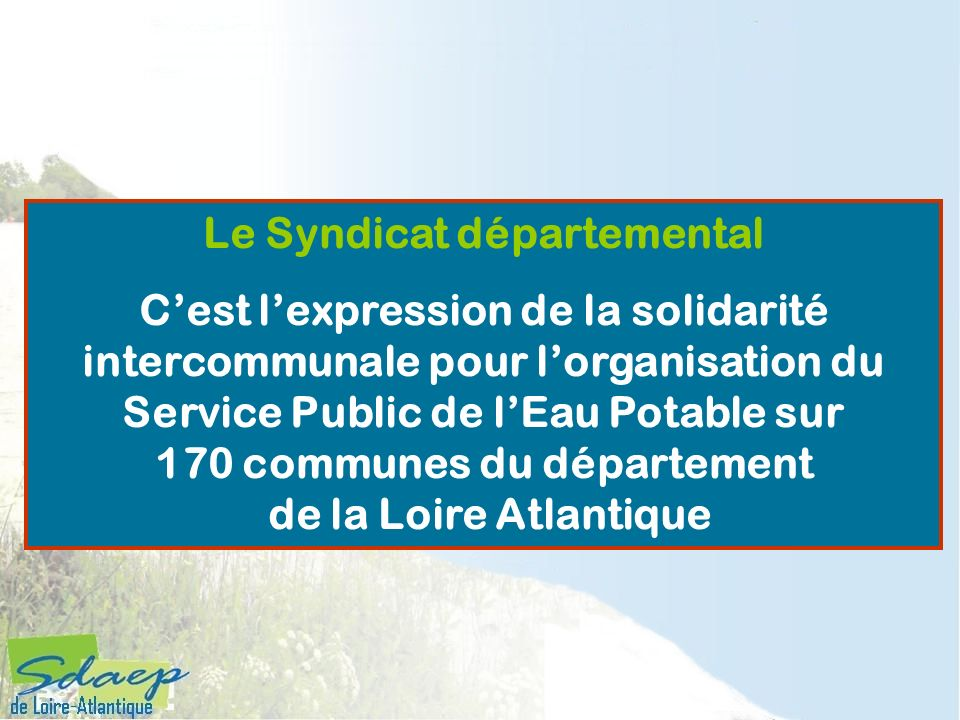 Le Syndicat départemental