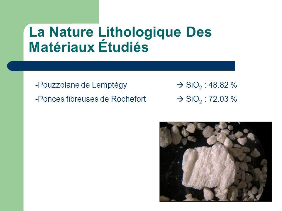 La Nature Lithologique Des Matériaux Étudiés