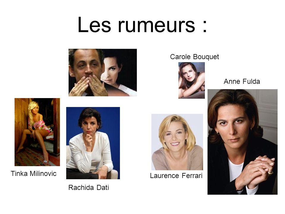 Les rumeurs : Carole Bouquet Anne Fulda Tinka Milinovic