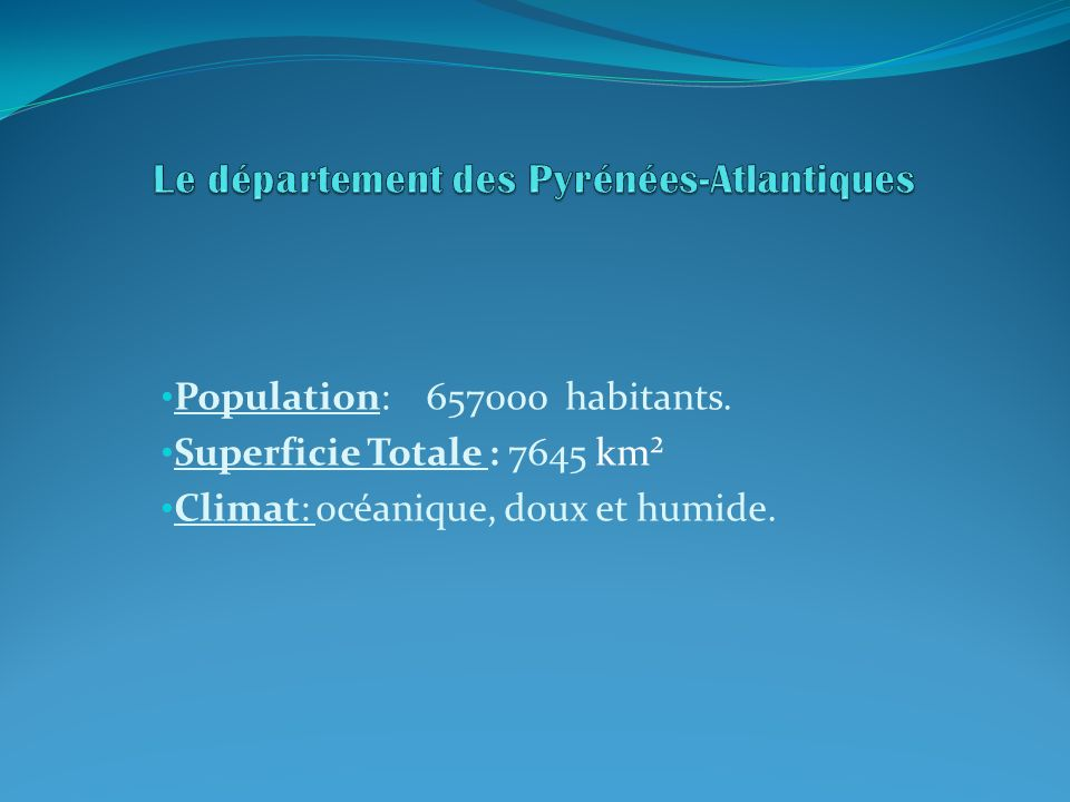 Le département des Pyrénées-Atlantiques