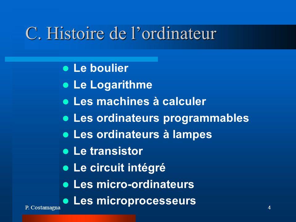 C. Histoire de l'ordinateur