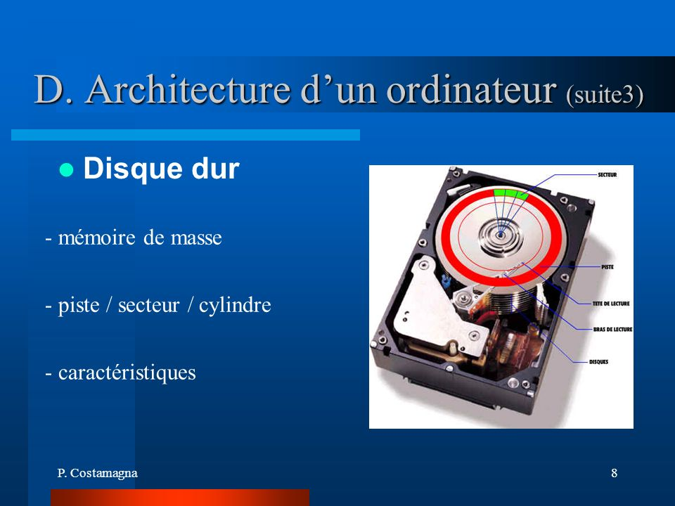 D. Architecture d'un ordinateur (suite3)