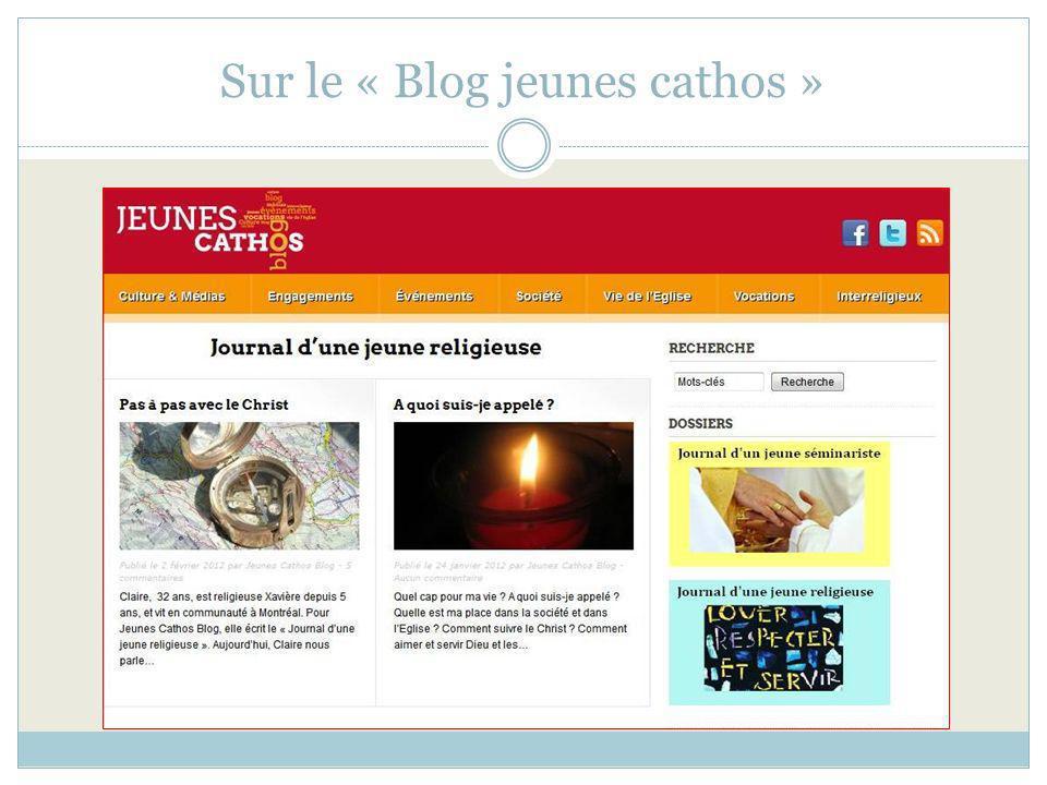 Sur le « Blog jeunes cathos »