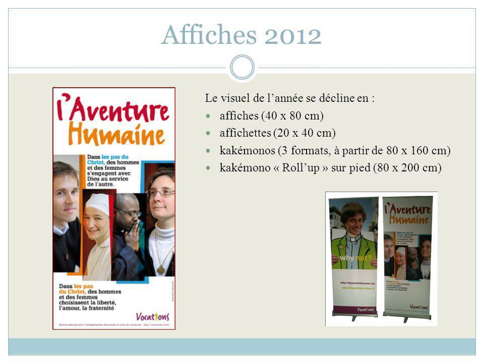 Affiches 2012 Le visuel de l'année se décline en :