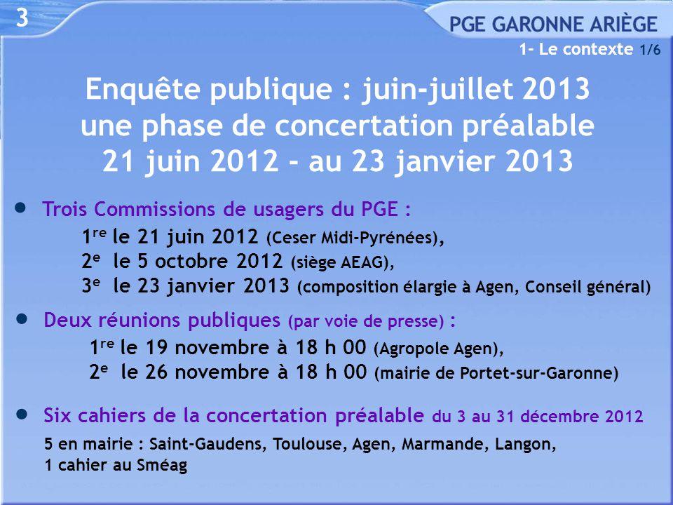 Enquête publique : juin-juillet 2013