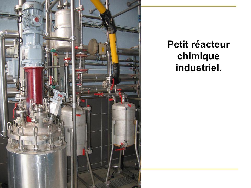 Petit réacteur chimique industriel.