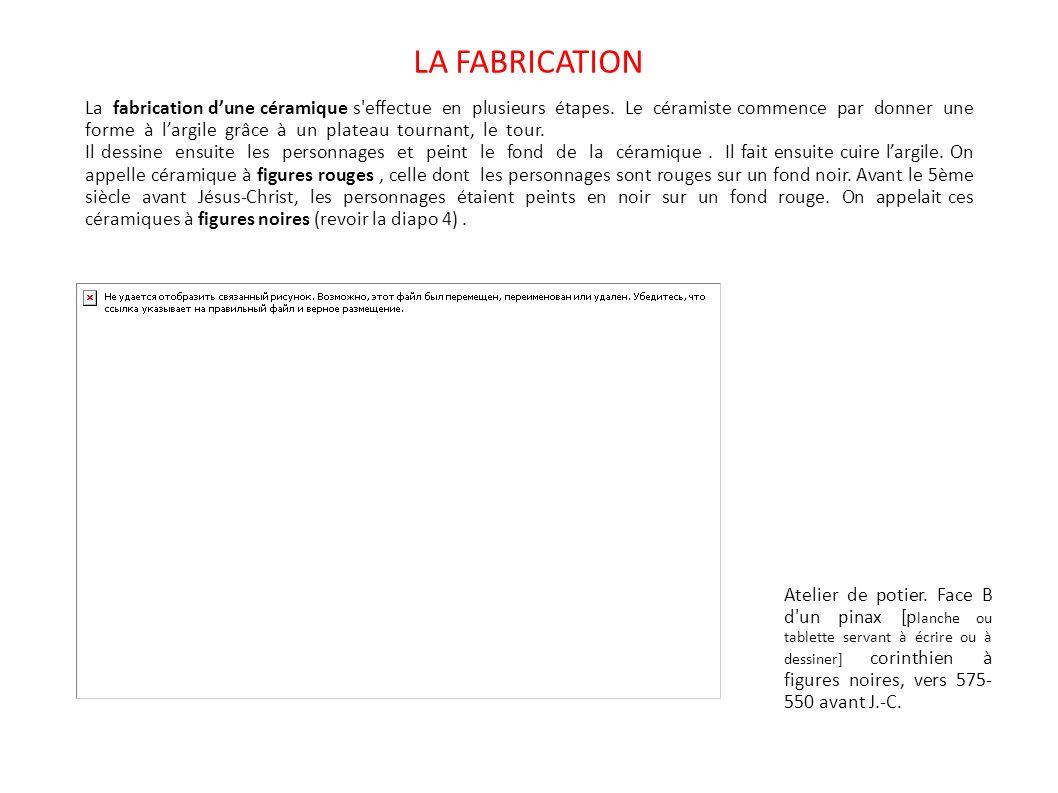 LA FABRICATION