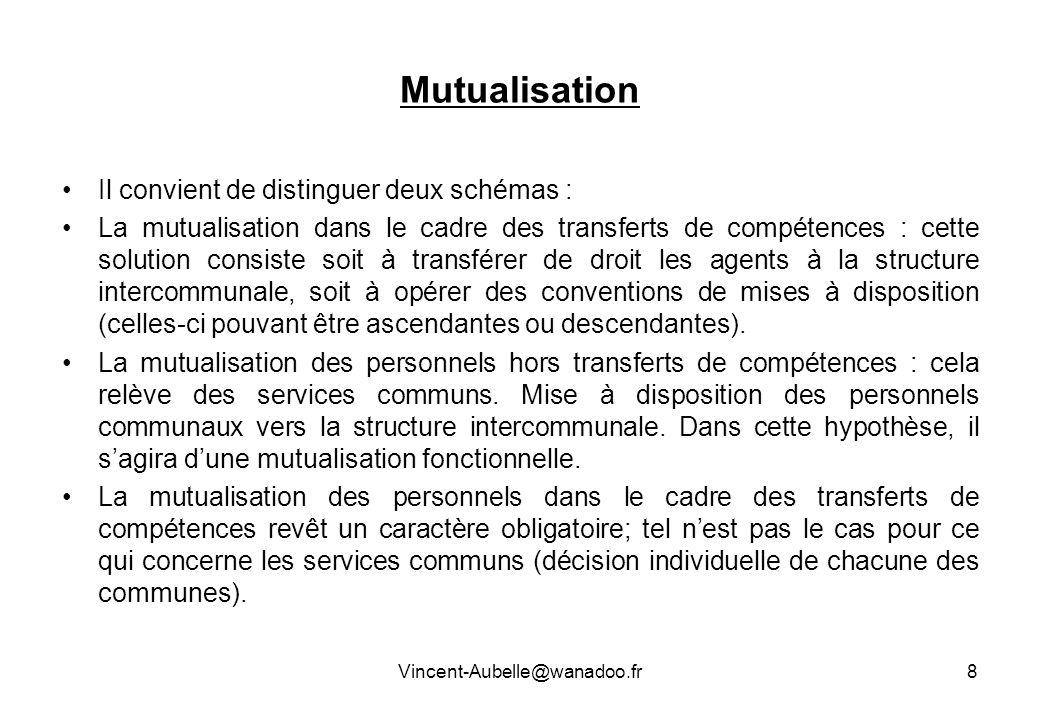 Mutualisation Il convient de distinguer deux schémas :