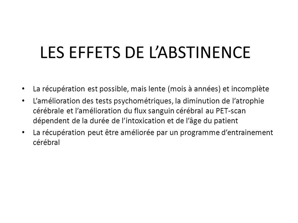 LES EFFETS DE L'ABSTINENCE