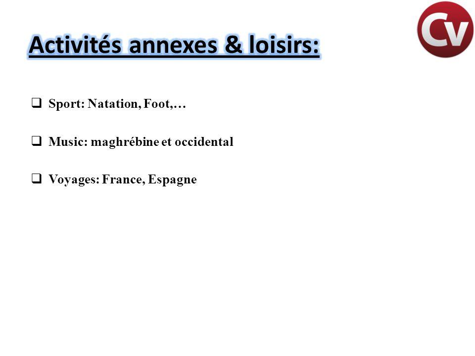 Activités annexes & loisirs: