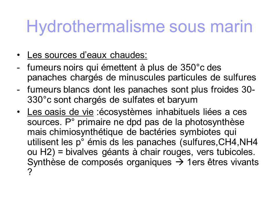 Hydrothermalisme sous marin