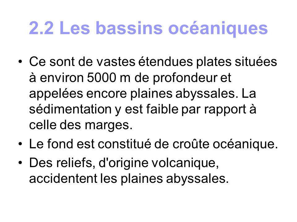 2.2 Les bassins océaniques