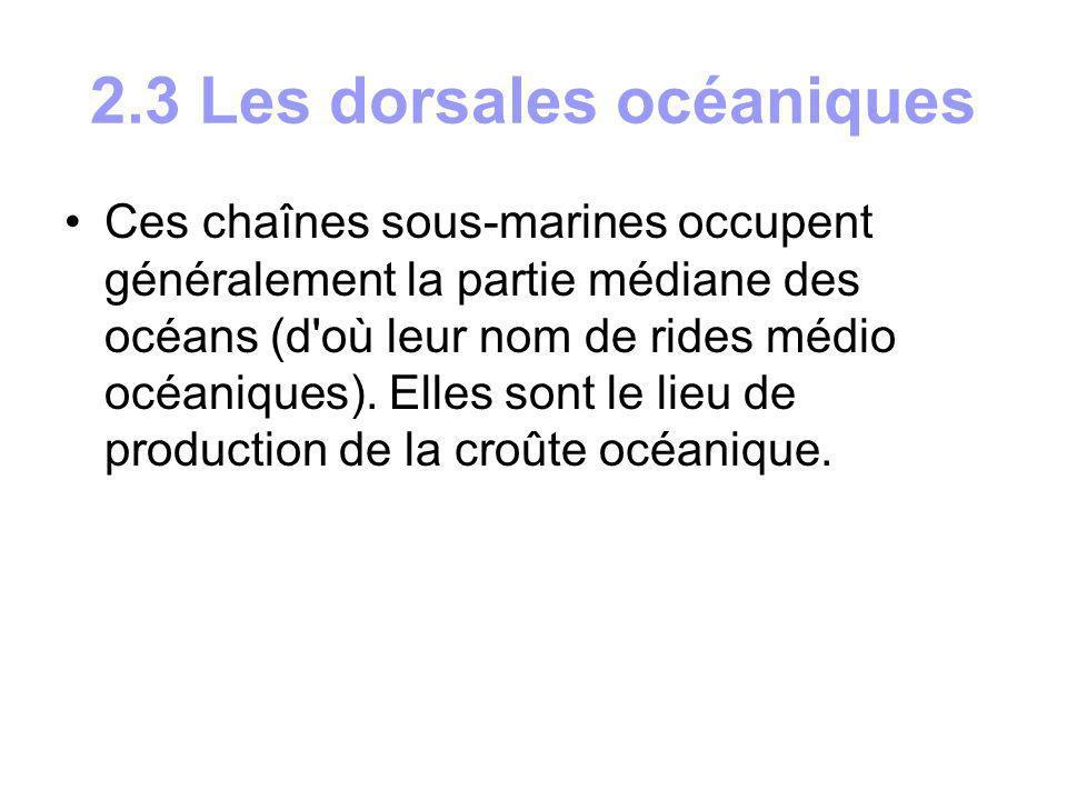 2.3 Les dorsales océaniques