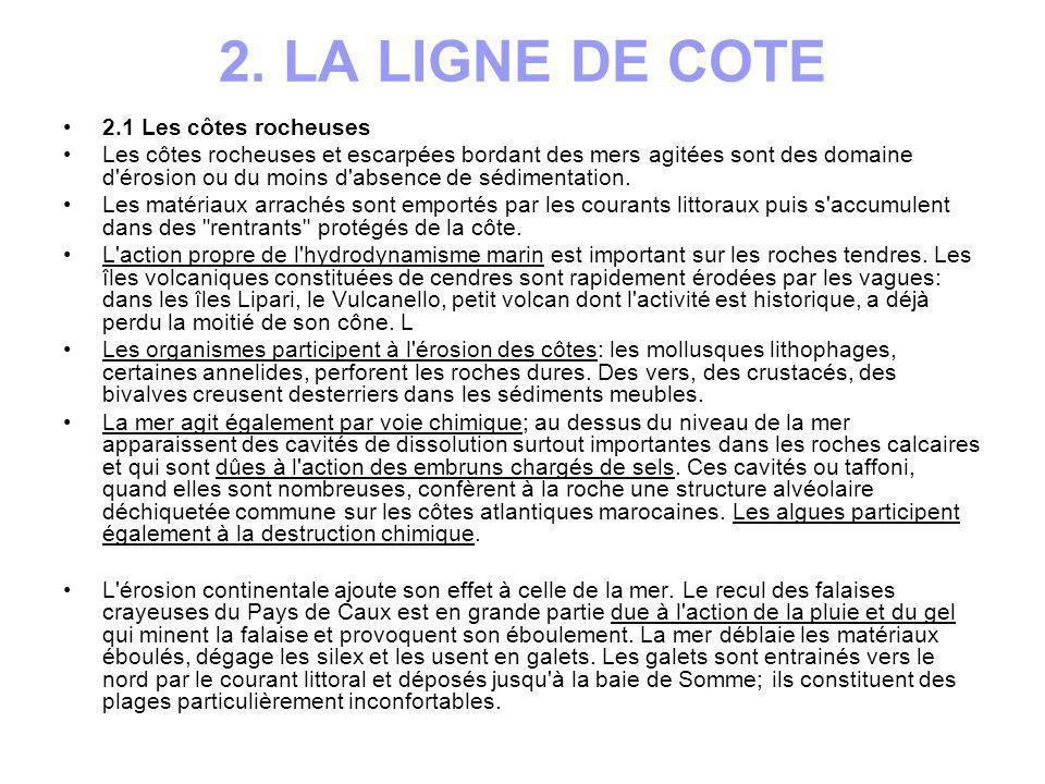 2. LA LIGNE DE COTE 2.1 Les côtes rocheuses