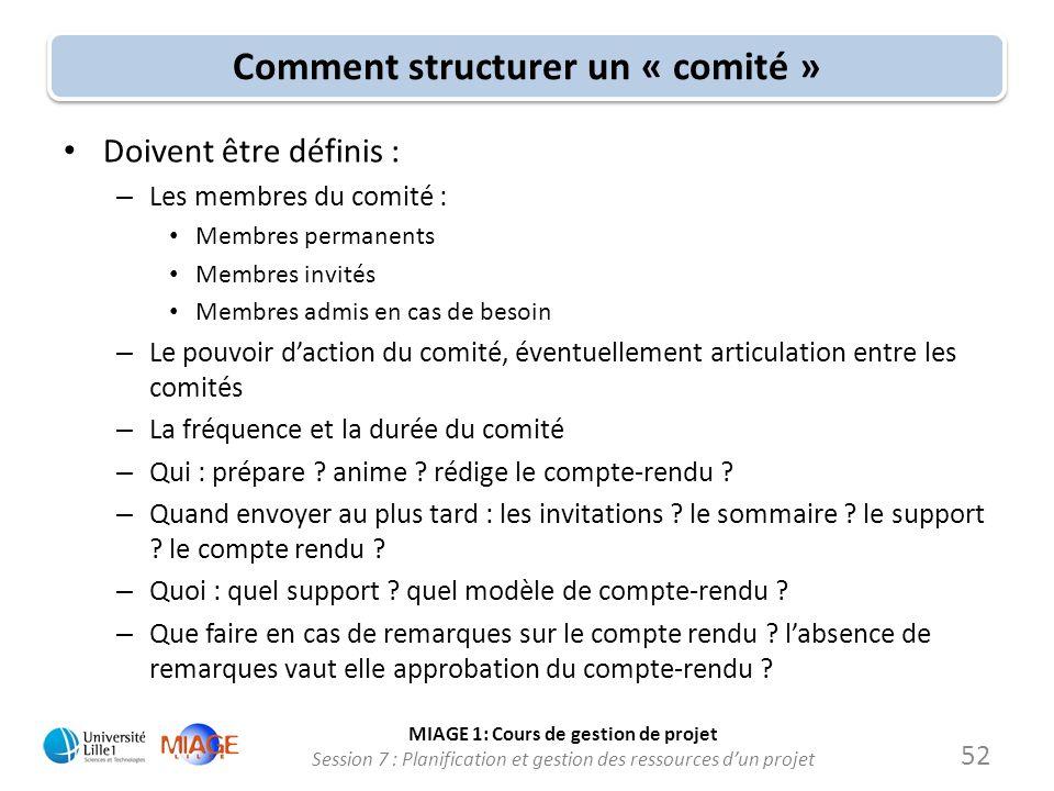 Comment structurer un « comité »