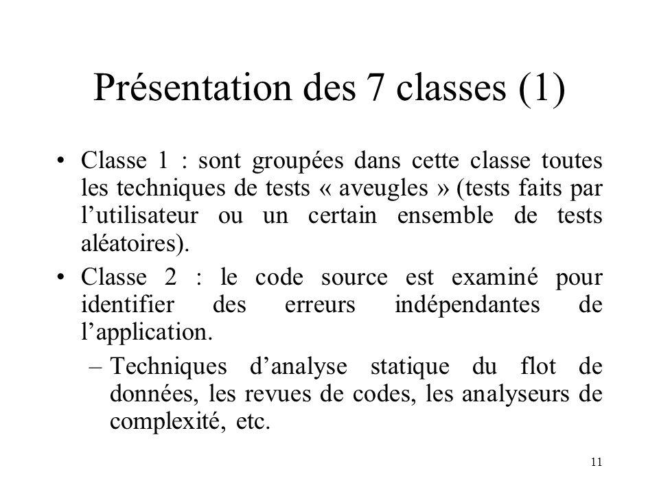 Présentation des 7 classes (1)