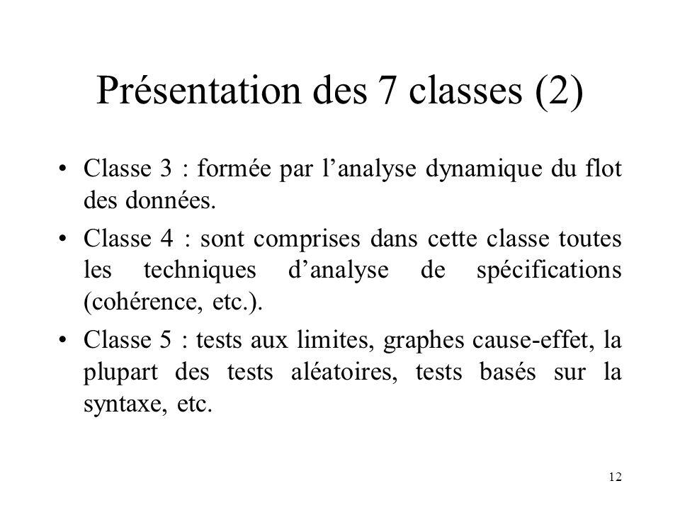 Présentation des 7 classes (2)