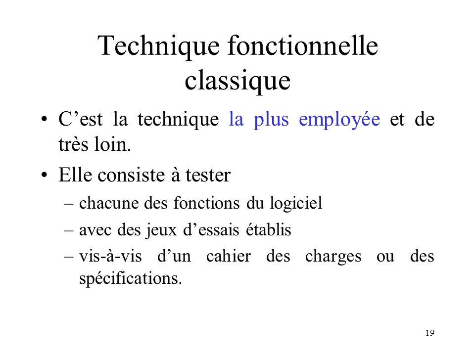 Technique fonctionnelle classique
